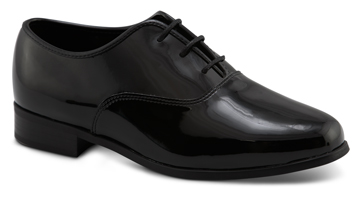MEN'S JAZZ Black Patent Round Toe 